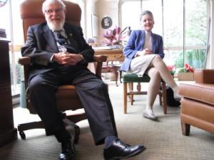 Janet Doman con suo padre Glenn