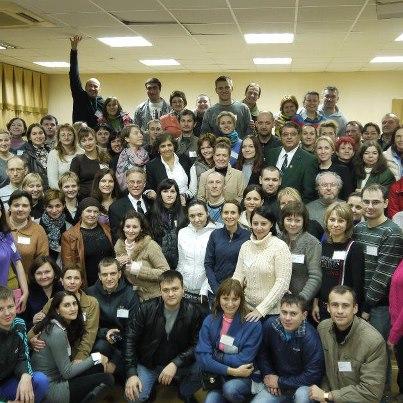 Foto di gruppo per i partecipanti al primo corso in Russia