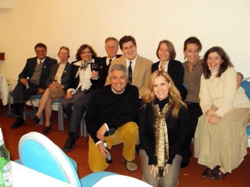 Elisa Guerra, autrice del blog in Spagnolo, in relax con parte dello staff